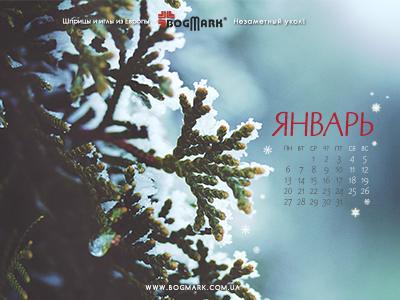 Скачать красивые обои для рабочего стола, картинка-календарь на 2016 год. Обои для рабочего стола: календарь на Январь 2014