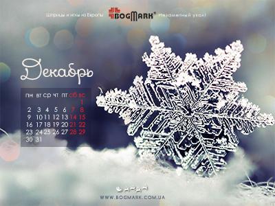 Скачать красивые обои для рабочего стола, картинка-календарь на 2016 год. Обои для рабочего стола: календарь на Декабрь 2013