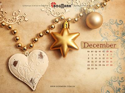 Скачать красивые обои для рабочего стола, картинка-календарь на 2016 год. Обои для рабочего стола: календарь на Декабрь 2014