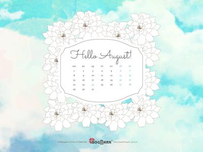 Скачать красивые обои для рабочего стола, картинка-календарь на 2016 год. Обои для рабочего стола: календарь на Август 2016