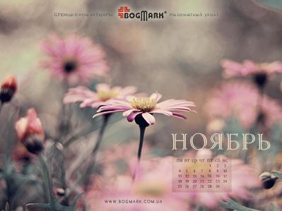 Скачать красивые обои для рабочего стола, картинка-календарь на 2016 год. Обои для рабочего стола: календарь на Ноябрь 2013